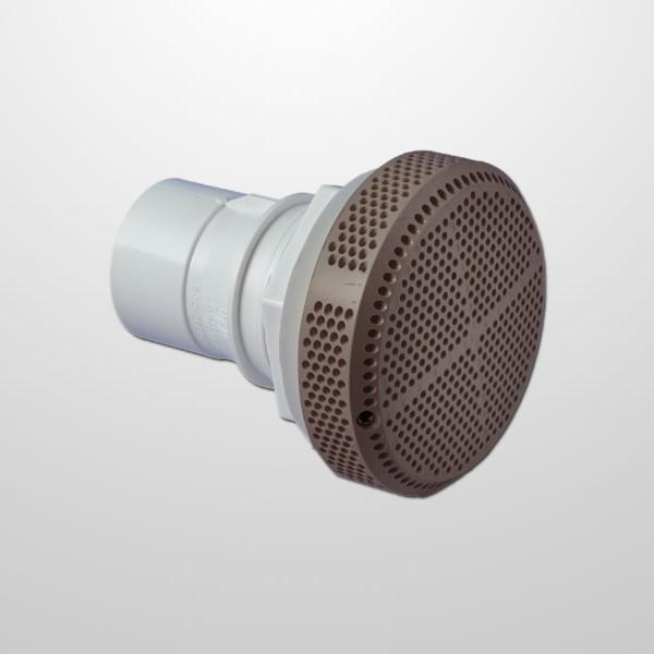 """Aspiracion Gris Ø130 mm. - Conexión Recta Ø2"""" (USA)"""