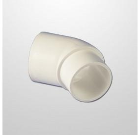 """Codo PVC 45º Ø2"""" (USA) - Macho/Hembra (Encolar)"""
