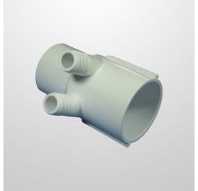 """Colector Agua 2 Salidas (Ø21 mm.) - Conexión 2"""" (USA) Macho/Hembra (Encolar)"""