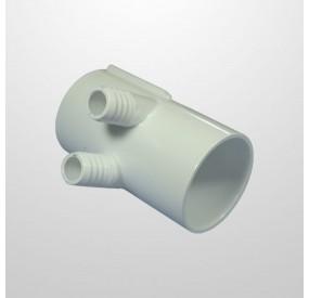 """Colector Agua 2 Salidas (Ø21 mm.) - Conexión 2"""" (USA) Hembra/Hembra (Encolar)"""