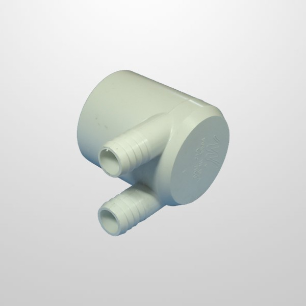 """Colector Agua 2 Salidas (Ø21 mm.) - Conexión 2"""" (USA) Hembra/Ciego (Encolar)"""