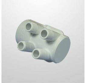"""Colector Agua 4 Salidas (Ø21 mm.) - Conexión 2"""" (USA) Hembra/Ciego (Encolar)"""