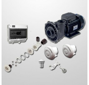 Kit Hidro Liner 6 Polyjets + Bomba 2HP + Pulsador Digital Inox 316L