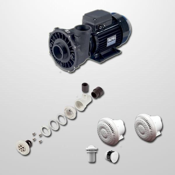 Kit Hidro Liner 6 Polyjets + Bomba 2HP (Neumática)