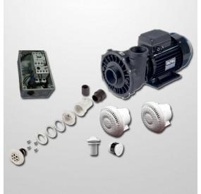 Kit Hidro Liner 6 Polyjets + Bomba 2HP + Cuadro Neumático