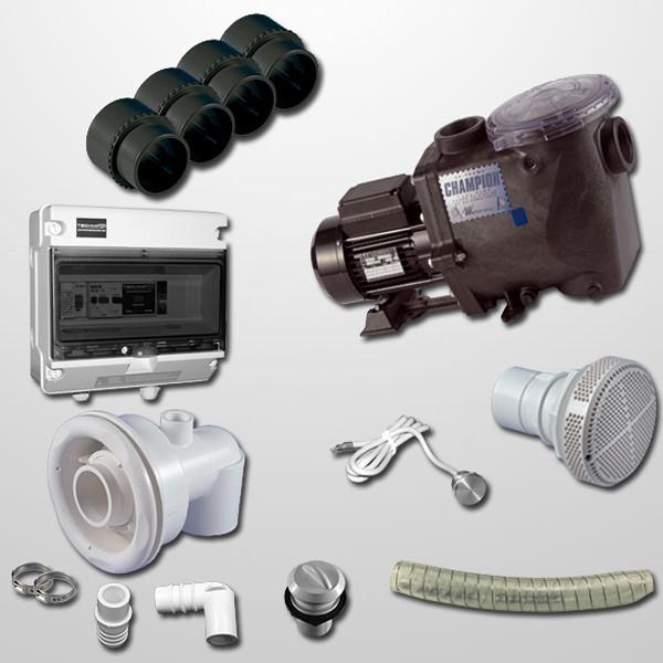 Kit NCC + Bomba Champion 3HP + Pulsador Digital Inox 316L