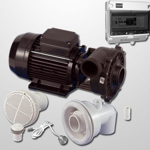 Kit Natación Contra Corriente + Bomba 2HP +  Pulsador Digital