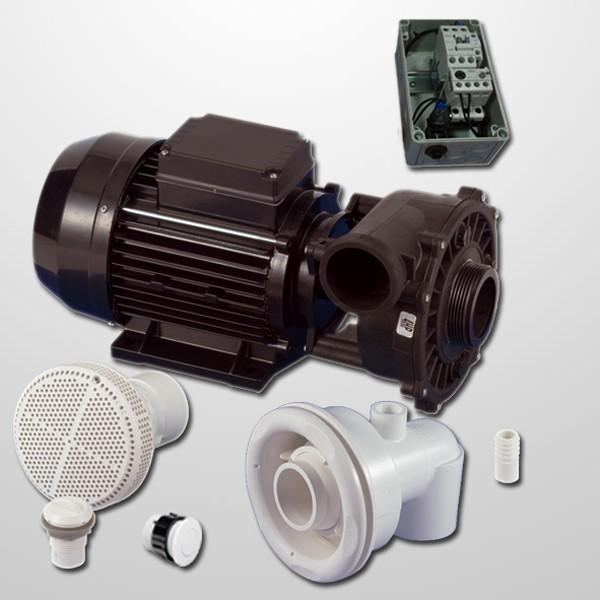 Kit Natación Contra Corriente + Bomba 2HP + Cuadro Neumático