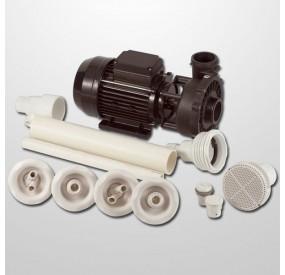 Kit Hidro 4 Powerjets Obra + Bomba 2HP (Neumática)
