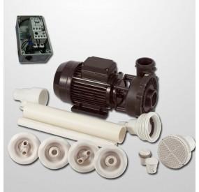 Kit Hidro 4 Powerjets Obra + Bomba 2HP + Cuadro Neumático