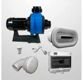 Kit River Jet Blanco + Bomba 3HP Ø90 mm. (Inox 316L)