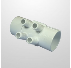 """Colector Agua 4 Salidas (Ø21 mm.) - Conexión 2"""" (USA) Hembra/Hembra (Encolar)"""
