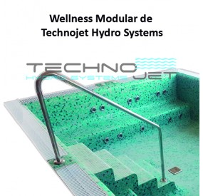 Example of the installation of 3 Modular Wellness Whirlpool Benches (4 Hydro Jets + 3 Air Jets)