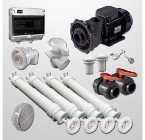 Hydro Kit Gunite Pool 4 Polyjets + Swim Jet + 2HP Pump + Pneumatic Control Box