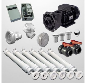 Kit Hidro Gunita 6 Polyjets + NCC + Bomba 2HP + Cuadro Neumático