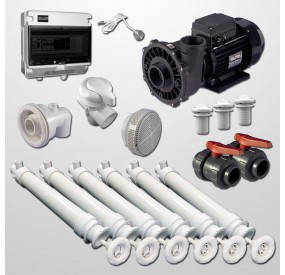 Hydro Kit Gunite 6 Polyjets + Swim Jet + Pump 2HP (Digital)